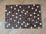 OnlineTeakFurniture 23.5'' Brazilian Plantation Teak Floor Mat for Bathroom, Kitchen, Spa, Outside Pool, Sauna