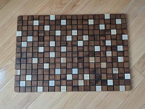 OnlineTeakFurniture 23.5'' Brazilian Plantation Teak Floor Mat for Bathroom, Kitchen, Spa, Outside Pool, Sauna by OnlineTeakFurniture