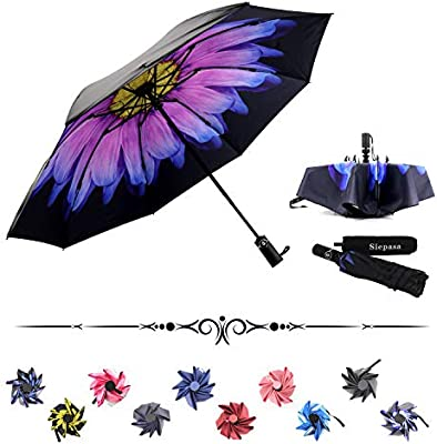 Siepasa Reverse Inverted Compact Light Windproof Travel Outdoor Umbrella -Auto Open Close