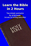 Learn the Bible in 2 Hours: Two Minute Summaries for all 66 Books (Includes the full King James Bible)