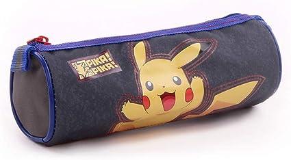 Pokemon Pika Pika – Estuche – 7 cm – gris: Amazon.es: Coche y moto