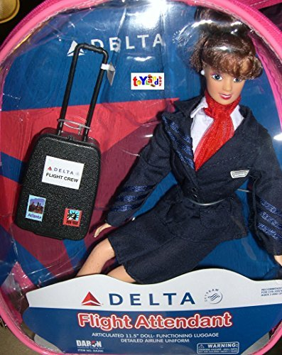 Flight Attendant Doll Delta Airlines 11 Doll Brunette with Backpack & Accessories by Daron