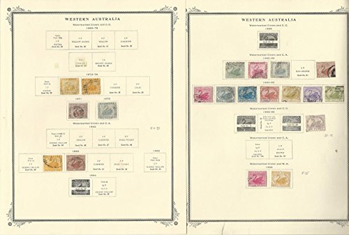 Western Australia Stamp Collection 1865 to 1912 on 4 Scott Specialty Pages