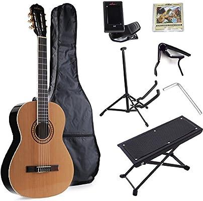 ADM tamaño completo nylon-string bolsa de guitarra clásica con ...