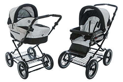 Roan Rocco Classic Pram Stroller 2-in-1 with Bassinet and...