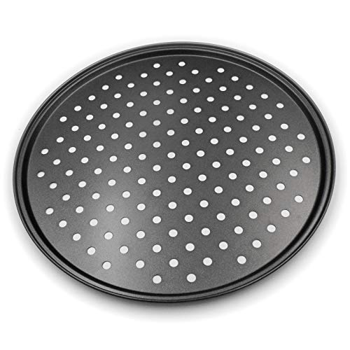 Pizza Crisper Pan, Carbon Steel, Non-Stick, Tray Pizza Pan with Holes, 12 Inch