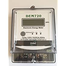 DAE DEM720-1P Electric kWh Submeter, RS485, 1P2W, 120v, 50A, Internal CT