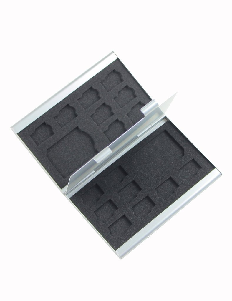 vanki 18 Slot Micro Sd MMC Tf Memory Card Storage Box Protecter Case Hold 2x Sd 16x Tf BANDC BANDC-115