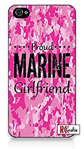 iphone covers Premium Pink Camo Marine Military Girlfriend Camouflage Direct UV Printed iPhone 6 plus Quality Hard Snap On Case for Iphone 6 plus 4G - AT&T Sprint Verizon - White Case Cover