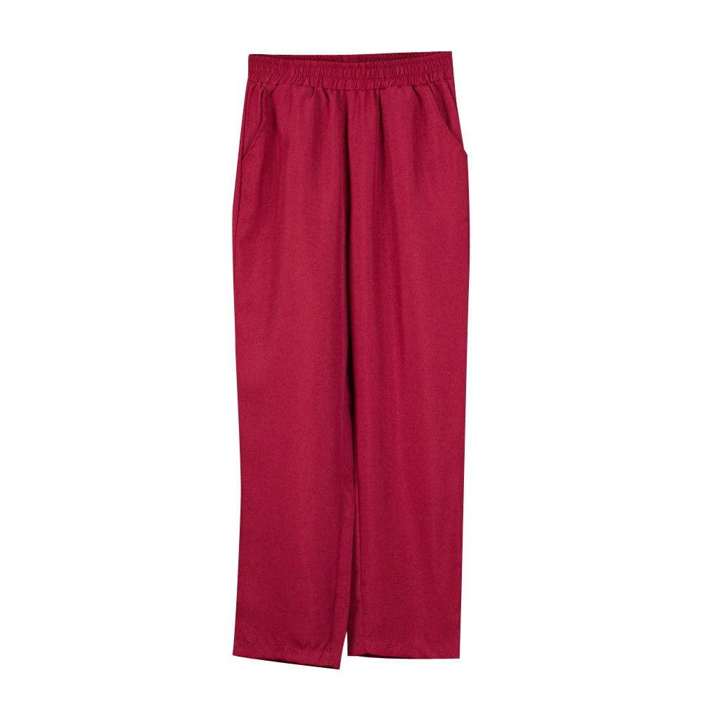 TIMEMEANS Women Fashion High Waist Loose Comfortable Pants New Ladies Long Trousers