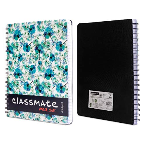 Classmate 2100117 Soft Cover 6 Subject Spiral Binding