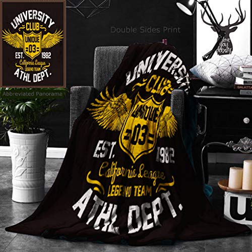 Unique Custom Double Sides Print Flannel Blankets College California Typography Illustration Super Soft Blanketry for Bed Couch, Twin Size 60 x 80 Inches by Ralahome (Image #7)