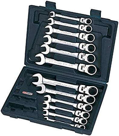 KS Tools 503.4865 Coffret de cl/és mixtes /à cliquet /à t/ête inclinable /à verrouillage Gear plus 12 p
