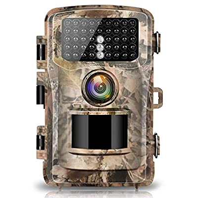 "Campark Trail Camera 14MP 1080P 2.4"" LCD Game & Hunting Camera with 42pcs IR LEDs Infrared Night Vision up to 75ft/23m IP56 Waterproof for Wildlife Animal Scouting Digital Surveillance"