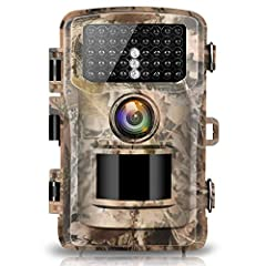 New version of Campark Hunting Camera: Super fast trigger times, 120 ° Wide angle,Waterproof, The quality of the images and videos are very good in day and night. It's not just a game camera, Trail Camera, Hunting Camera or Wildlife Camera Tr...