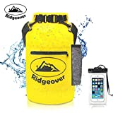 Ridgeover Waterproof Dry Bag 500D 20L - Dry Bag With Waterproof Case, Exterior Zip Pocket and Shoulder Strap - Waterproof Backpack Keeps Gear Dry for Kayaking, Beach, Rafting, Boating, Hiking, Camping