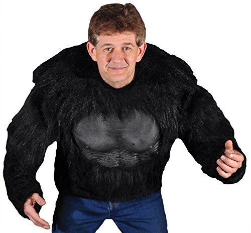 UHC Men's Gorilla Shirt Animal Theme Party Adult Halloween Fancy Costume