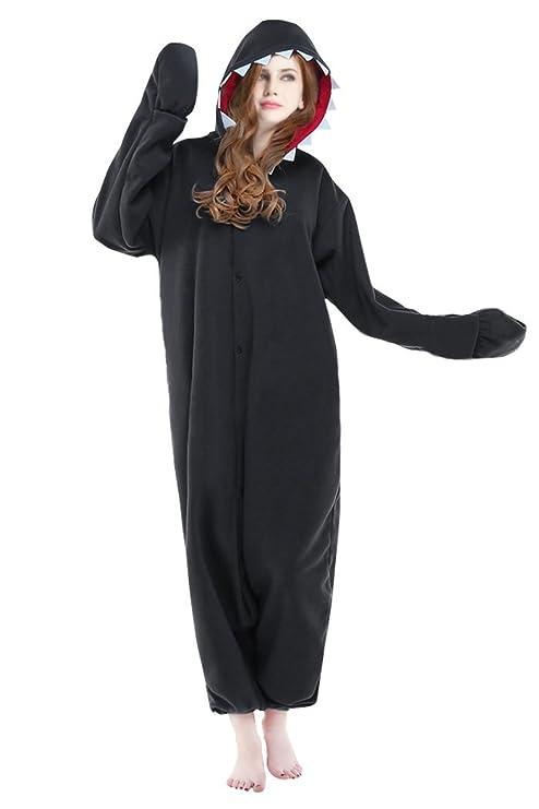 dressfan Unisex Animales Cosplay Disfraz Tiburón PYJAMAS adultos
