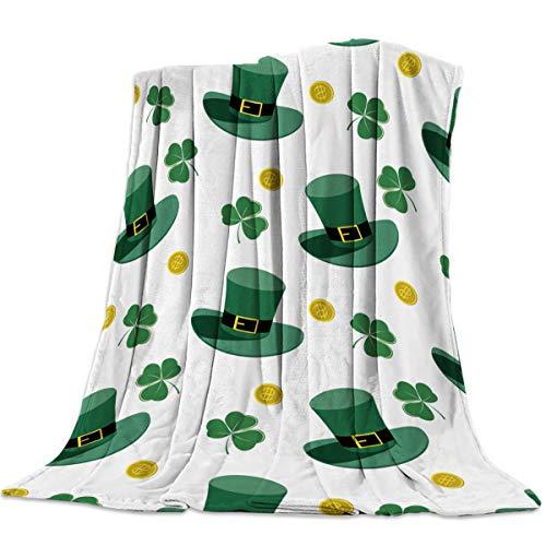 - DaringOne Comfy Plush Fleece Throw Blanket 40x50 inch St. Patrick's Day Soft Coach Blanket Lightweight Stadium Blanket Gold Coins and Leprechaun Hat with Lucky Shamrocks