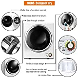COSTWAY Compact Laundry Dryer, 110V Electric