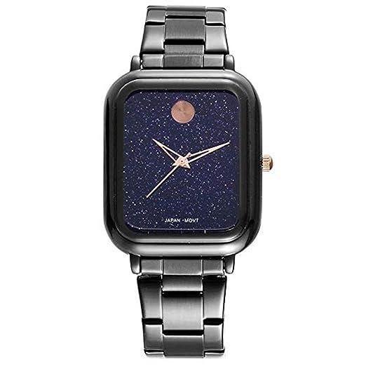 Hermosos Relojes 2018 Damas Plaza Estrella Cara Watch Banda de Acero Reloj de Cuarzo Moda: Amazon.es: Relojes