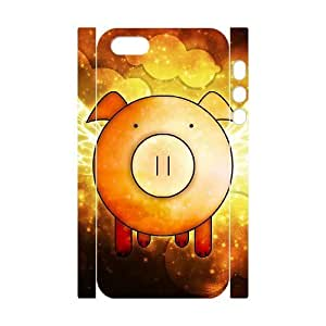 3D Bumper Plastic Customized Case Of Pig for iPhone 5,5S