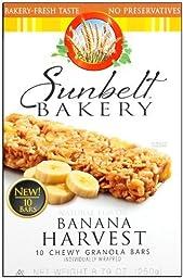 Sunbelt Bakery Banana Oat Chewy Granola Bars 10 Ct [3 Pack]