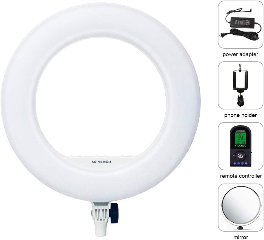 AX-480EII Bag Yidoblo AX-480EII 5500K Warm /& Cold Bio-Color Camera Photo//Studio//Phone//Video 18 240 LED Ring Light LED Lamp Makeup Ring lamp