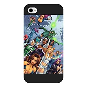UniqueBox Customized Marvel Series Case for iPhone 4 4S, Marvel Comic Women Heroes iPhone 4 4S Case, Only Fit for Apple iPhone 4 4S (Black Frosted Case) Kimberly Kurzendoerfer