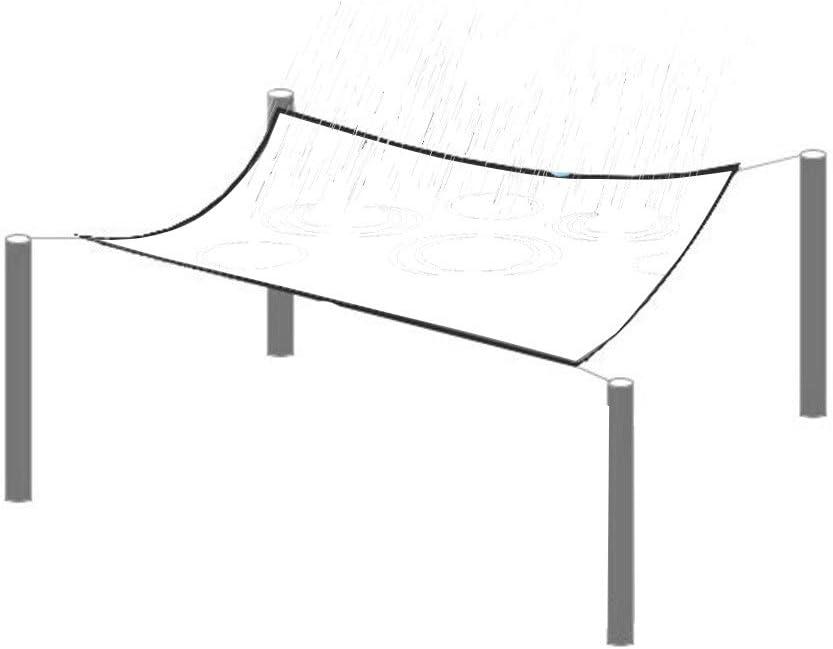 GDMING Transparent Plane Gewebeplane Abdeckplane Holz Wasserdicht Schwerlast Mit /Ösen Balkon Pflanzen Regenfest Schatten Kunststoff Zelt Boden Abdeckung,24 Gr/ö/ßen Color : Clear, Size : 1x1m