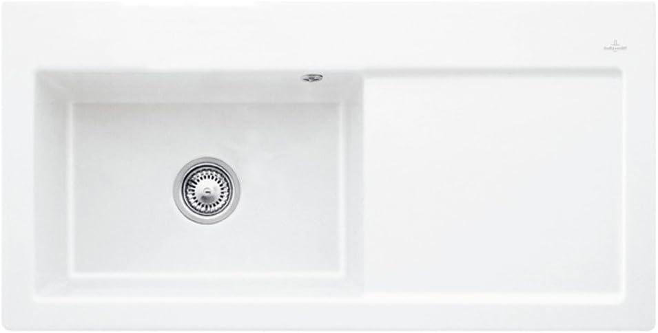Villeroy /& Boch Subway 60 XL 1.0 Bowl White Ceramic Kitchen Sink RHD /& Waste