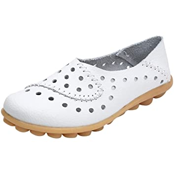 Damen Halbschuhe Spitz Zehe Loafers Schlüpfen Oxford Freizetschuhe Sandalen DE