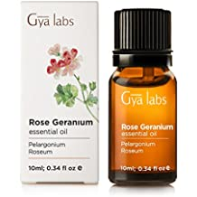 Rose Geranium (Africa) Essential Oil - 100% Pure, Undiluted, Organic, Natural & Therapeutic Grade for Aromatherapy Diffuser, Health Skin and Relaxtion - 10ml - Gya Labs