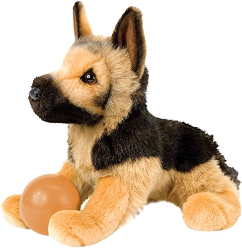 Douglas Toys General German Shepherd Plush Stuffed Animal Dog (Black Plush Dog Toy)
