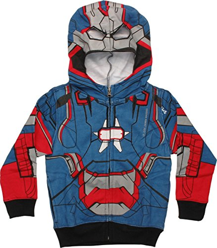 Mad Engine boys Little Boys' Iron Patriot Costume Hoodie 2T