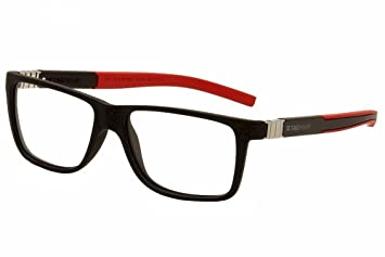 f21415f8b4c Image Unavailable. Image not available for. Color  Tag Heuer Eyeglasses  Legends TH9311 TH 9311 002 Black Red Optical Frame 56mm