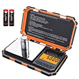 AMIR Digital Mini Scale, 200g /0.01g Pocket Scale, 50g Calibration Weight, Electronic Smart