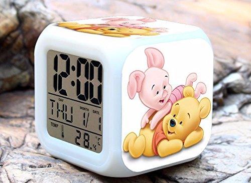 Cartoon Winnie the Pooh Digital LED 7 Changed Colorful Li...