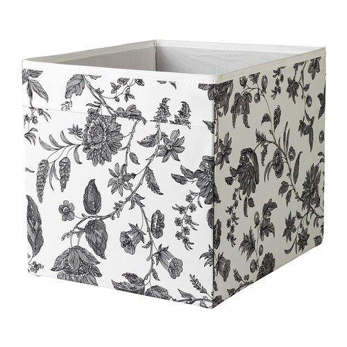 Ikea Drona Box In Weiss Mit Blumenmuster 33x38x33cm Passend Fur