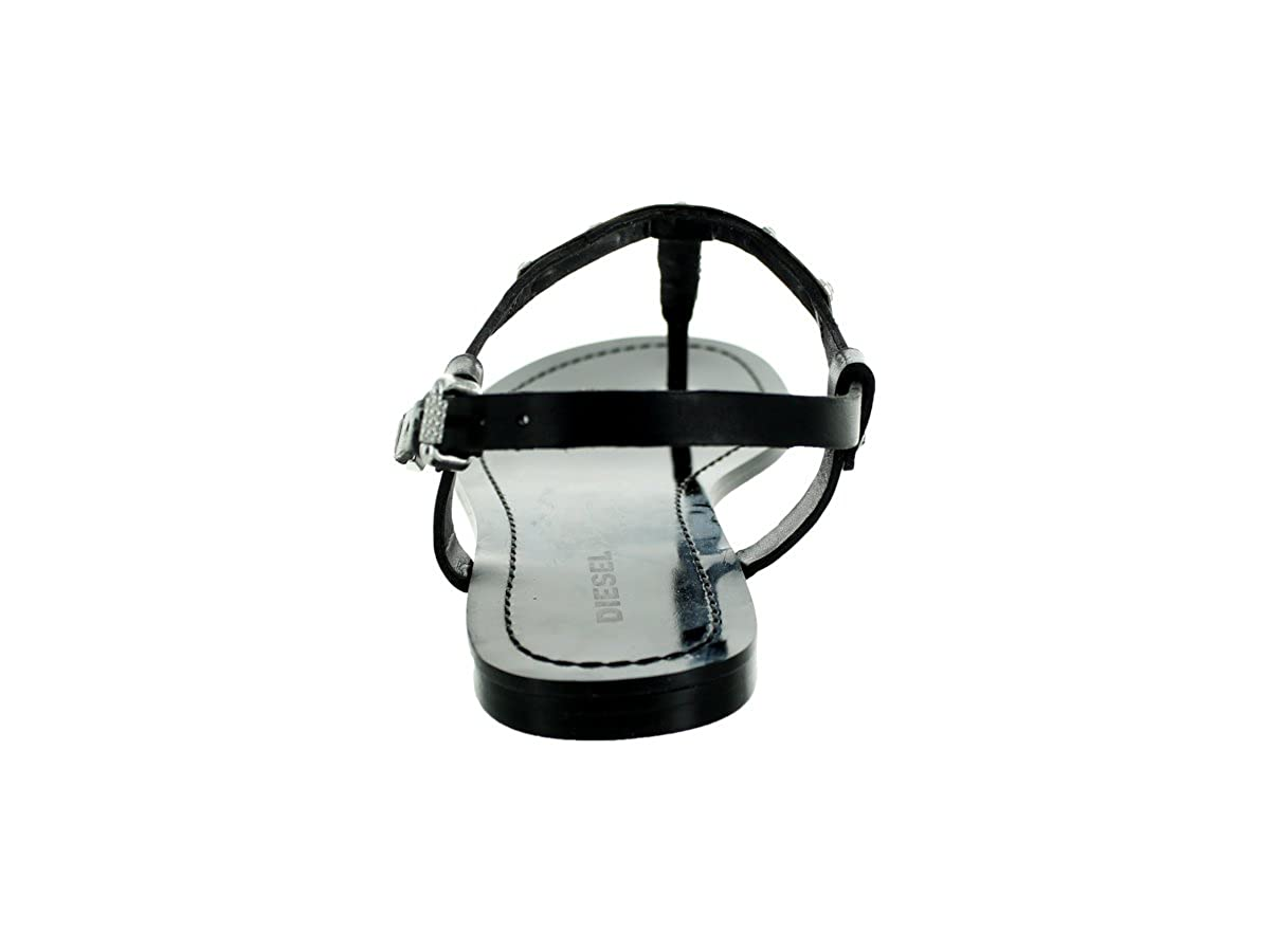 Diesel Damen Zehentrenner Sandalen Cage Cage Cage D-Lights D-OROTHY (EUR 40, Schwarz) 7413c4