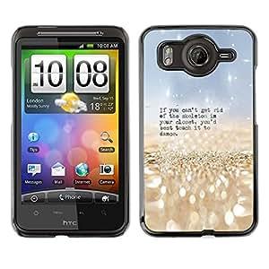 Qstar Arte & diseño plástico duro Fundas Cover Cubre Hard Case Cover para HTC Desire HD / G10 / inspire 4G( Skeleton Closet Dance Funny Quote)