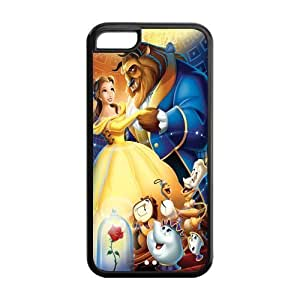 Mystic Zone Custom Beauty and the Beast iPhone 5C Back Cover Case for Apple iPhone 5C -(Black and White) -MZ5C00010