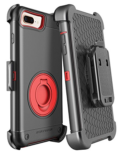 iPhone 8 Plus Case, iPhone 7 Plus Case with Kickstand Belt Clip Holster, BENTOBEN Heavy Duty Rugged Hybrid Full Body Shockproof Protective Phone Case for iPhone 8 Plus/iPhone 7 Plus (5.5
