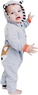 K-youth® Recién nacido Pijama Bebé Niñas Niños Sudadera con capucha Zorro Rayas Jumpsuit K-youth®