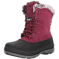 Propét Lumi Botas de Nieve de Encaje Alto para Mujer, Berry, 6 M US