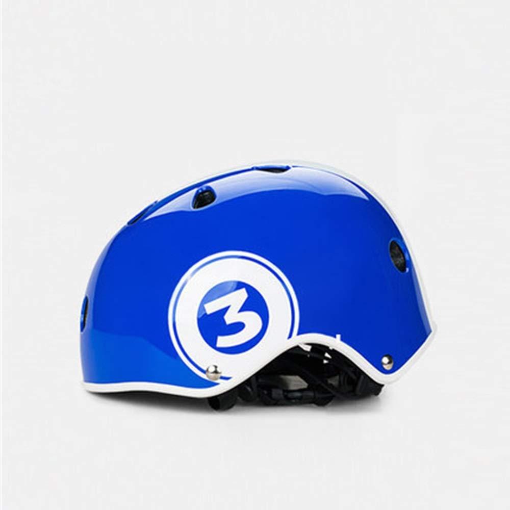 Dobetter 子供用の調整可能なヘルメットは安全で快適ですスポーツ用保護具はインパクトヘルメットから頭を保護します通気性、通気性、汗吸収性で、ムレないヘルメット  Blue B07R12X9P3