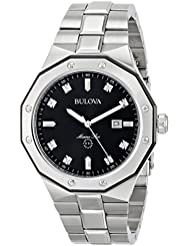 Bulova Men's Quartz Stainless Steel Dress Watch, Color:Silver-Toned (Model: 98D103)