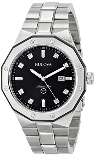 Bulova Men's Quartz Stainless Steel Dress Watch, Color:Silver-Toned (Model: ()