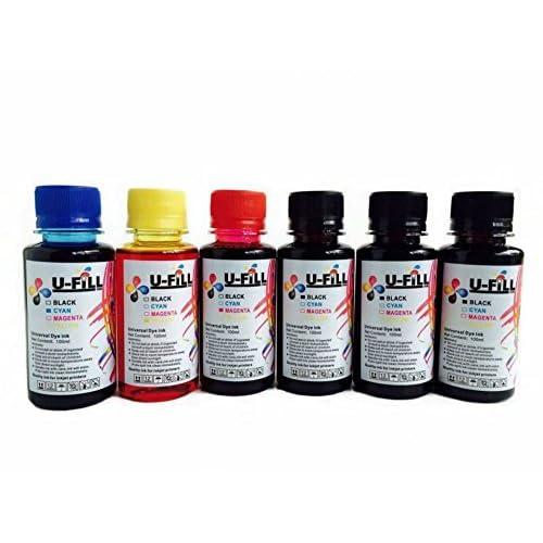 U FiLL INK Compatible HP Ink Refill Kit 600ml for HP Officejet Pro Deskjet Envy PhotoSmart Inkjet Printers (3 Black, 1 Cyan, 1 Magenta, 1 Yellow)