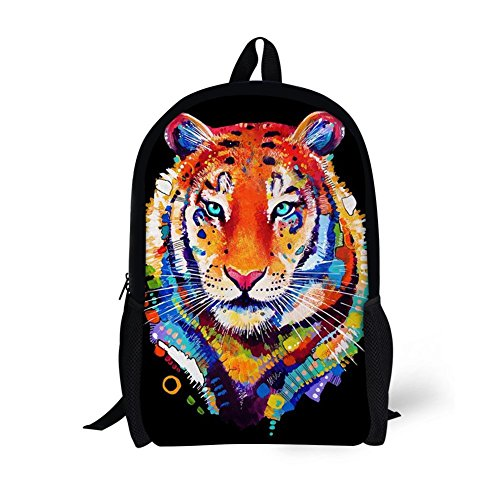 Students inches Varied Bookbag Rucksack Patterns Pattern Amint College 31 02 16 3D Animal Backpack Unisex Adult Print Bag YCwwAxFRq
